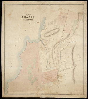 Drake, James Charles, 1821-1865? :District of Ohariu New Zealand [ms map]. 1853.