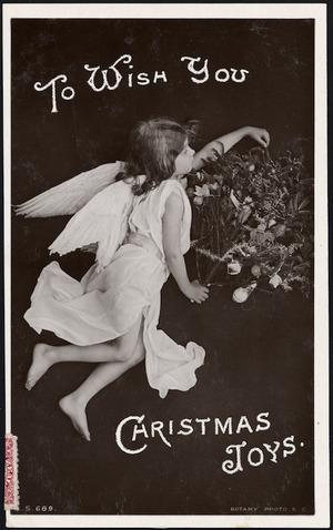 [Postcard]. To wish you Christmas joys. Rotary Photographic series. S 689. [ca 1908].