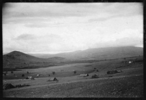 Landscape showing 5th Field Ambulance Main Dressing Station, at Dolikhe, Greece - Photograph taken by Ian Macphail