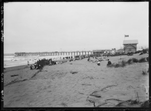 New Brighton beach, Christchurch, with the pier in the distance