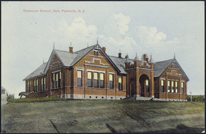 [Postcard]. Technical School, New Plymouth, N.Z. Whalley & Co., Photo. Copyright no. N.P.1. Fergusson Limited [Printer. ca 1904-1914?]