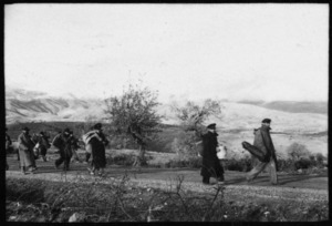 Refugees in Servia, Greece, during World War II - Photograph taken by Ian Macphail