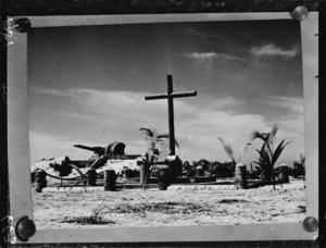 Monument to New Zealand soldiers on Tarawa