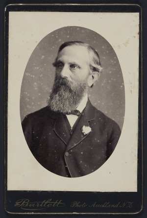 Bartlett, R H (Auckland), fl 1875-1880 :Portrait of Sir John Hall