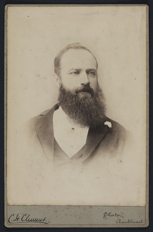 Clemens, C H (Auckland) fl 1891 :Portrait of unidentified man