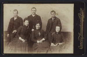Connolly, Beauchamp & Price (Wellington) fl 1880s :Group portrait of 6 unidentified men and women