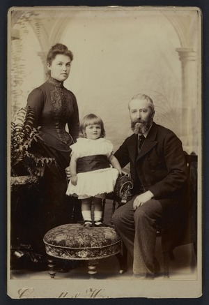 Connolly & Herrmann (Wellington) fl 1887-1889 :Group portrait of unidentified man, woman and child