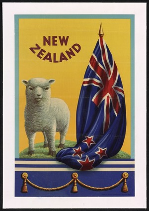 New Zealand Meat Producers Board: New Zealand [Lamb and flag. ca 1940?]