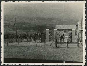 The main gate of Campo PG 78/1, Aquafredda, Italy - Photograph taken by H R Dixon