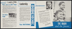 [New Zealand National Party]: To the householder - postage paid. The Maori and the future. [Printed by] W.& T. Ltd [1960]
