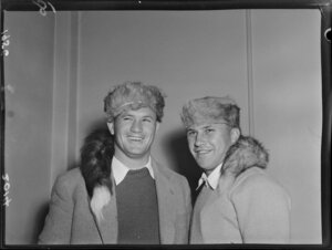 Two unidentified members of the 1956 Springbok rugby union football team