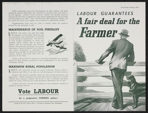 New Zealand Labour Party: Labour guarantees a fair deal for the farmer [1957?]