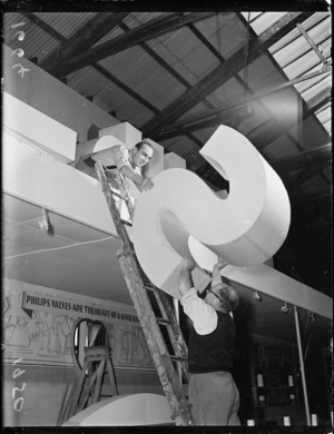 Preparing for the Wellington Industrial Jubilee Exhibition