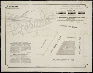 Wellington Harbour Board Featherston Street endowment [cartographic material] : plan of leasehold building section.