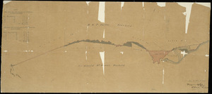 [Weber, Charles, 1830-1887] :[Map showing the transfer of land on the boundary between the properties of H.W.P. Smith and Sir Donald McLean at Maraekakaho [ms map]. [18]75.