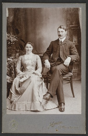 Johnston, A (Wick & Thurso) fl 1860s-1880s :Portrait of unidentified man and woman