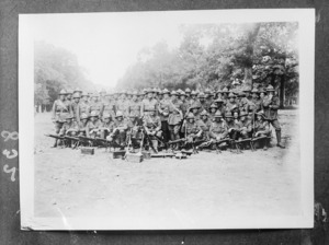 Four photographs of New Zealand soldiers in France, World War 1