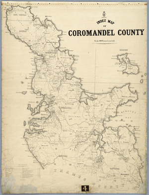 Index map of Coromandel County [cartographic material] / Gerhard Mueller, Chief Surveyor.