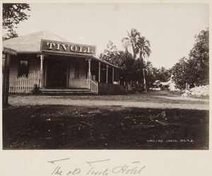 The Tivoli Hotel and Tivoli Road, Apia, Samoa - Photograph taken by Thomas Andrew