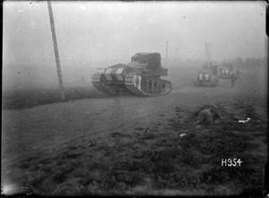 Whippet tanks advancing near Achiet-le-Petit, France