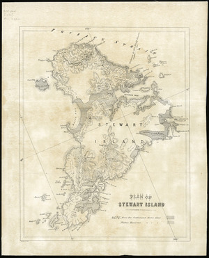 Plan of Stewart Island [cartographic material].