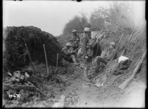 New Zealand soldiers who had fought on the Somme