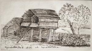 Taylor, Richard, 1805-1873 :My abode at Waitotara. Dec. 6 1856.