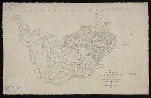 Plan of the town of Auckland in the island of New-Ulster or Northern Island, New Zealand by Felton Mathew, Surv. Genl. 1841. [ms map]