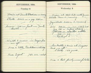 Diary entries for 4-5 September 1934