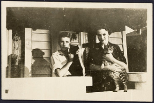 Photograph - On the verandah with pets