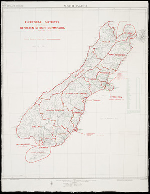 Electoral districts as proposed by Representation Commission, June 1967 [cartographic material].