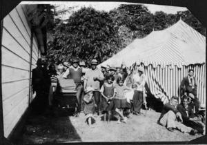 Kapiti Coast District Libraries: Photograph taken during a tangi at Whakarongotai Marae, Waikanae