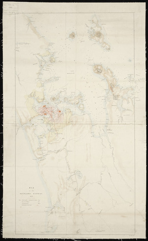 Map of the Auckland district, 1852 [cartographic material].