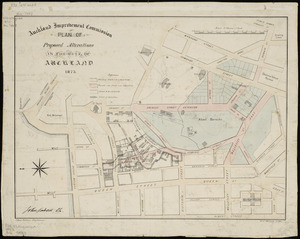Plan of proposed alterations in the city of Auckland [cartographic material] / Chas. Palmer, delt.