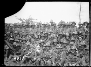 A New Zealand battalion after the Battle of Messines, World War I