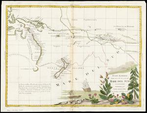 Nuove Scoperte [cartographic material] : fatte nel 1765, 67 e 69 nel : mare del sud / G. Zuliani scl ; G. V. Pasquali, scri.