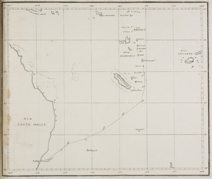 Map of New South Wales and the Pacific Islands