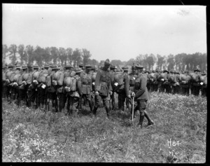 General Russell inspects troops
