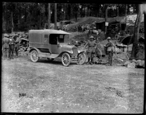 The official photographer's car in Ploegsteert Wood, World War I