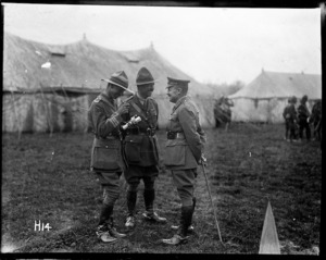 General Russell with some officers at the New Zealand Division horse show, World War I