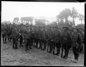 General Russell inspects New Zealand troops at various camps