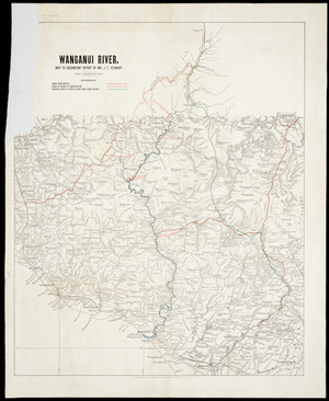 Wanganui River [cartographic material] : map to accompany report by Mr. J.T. Stewart.