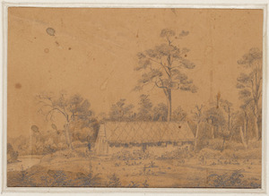 [Smith, William Mein] 1799-1869 :[Wharekaka, the station of Clifford and Weld by the Ruamahanga River. 1849?]