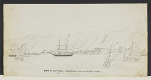 [Ashworth, Edward] 1814-1896 :View of Victoria, Hong Kong from the north west. [1845]