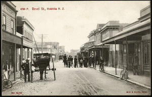 Postcard. 4786 P. Revel St., Hokitika, N.Z. New series. Muir & Moodie series, issued by Muir & Moodie, Dunedin N.Z. from their copyright series of views. Made in Germany [1904-1914]