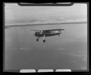 Fairchild Argus aircraft owned by Mr Vic Hunter of Rotorua, in the air