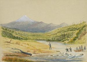 Hamley, Joseph Osbertus 1820-1911 :[Oakura Stream near Taranaki. 28 June 1864]