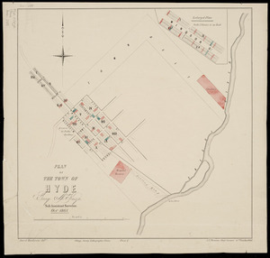 Plan of the town of Hyde [cartographic material] / [surveyed by] George McKenzie, Octr. 1864.