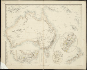 Australia and New Zealand according to Arrowsmith and Mitchell [cartographic material] / drawn by Augustus Petermann F.R.G.S. ; engraved by G.H. Swanston.