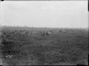 New Zealanders in action near the front line in France, World War I